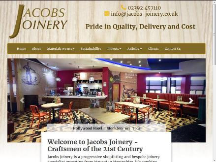 Jacobs Joinery - responsive website design havant