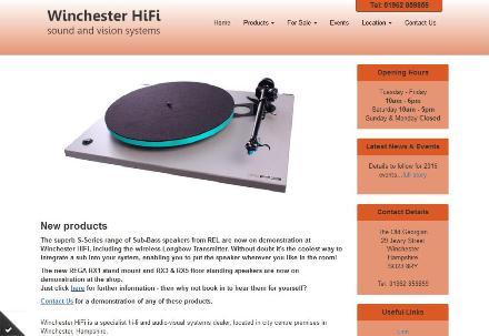 Winchester HiFi - responsive website design winchester
