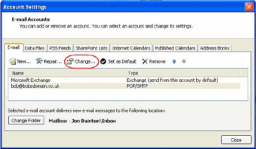 recover outlook express email password